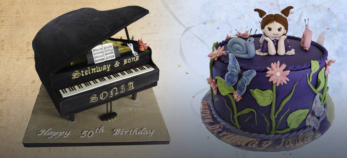 Custom Made to Order Birthday Cakes - Persimmon Lane Cakery creates fantastic fantasy birthday cakes.
