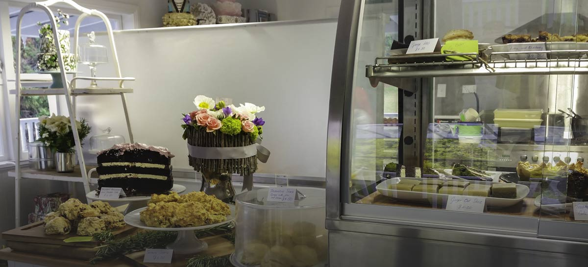 Coffee, Tea, Sweets and Savories, Baked fresh daily at Persimmon Lane Cakery and Coffee shop.