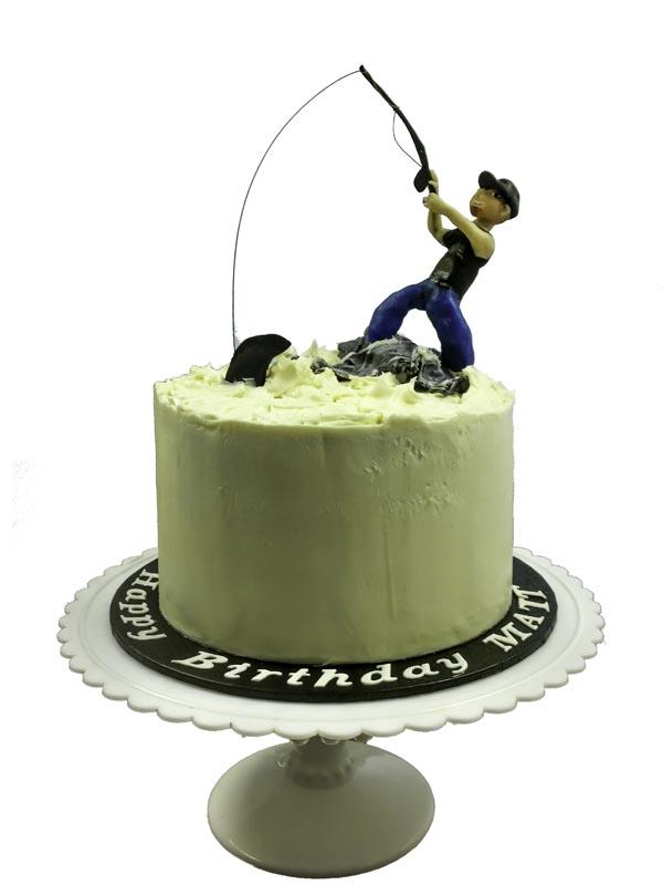 Persimmon Lane Portfolio Custom Made Birthday Cakes Te Puna Fishing Man Icing Decoration